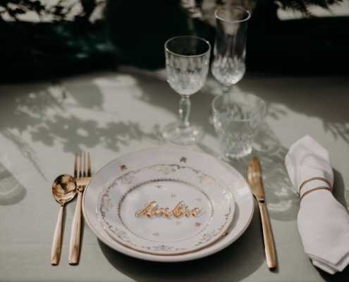 Verrerie table green chic